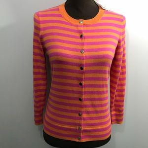NWT Banana Republic Striped Silk Blend Cardigan